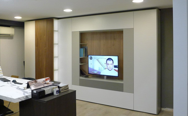 Sistema Roomy de Caccaro instalado en exposición Kitchen in.
