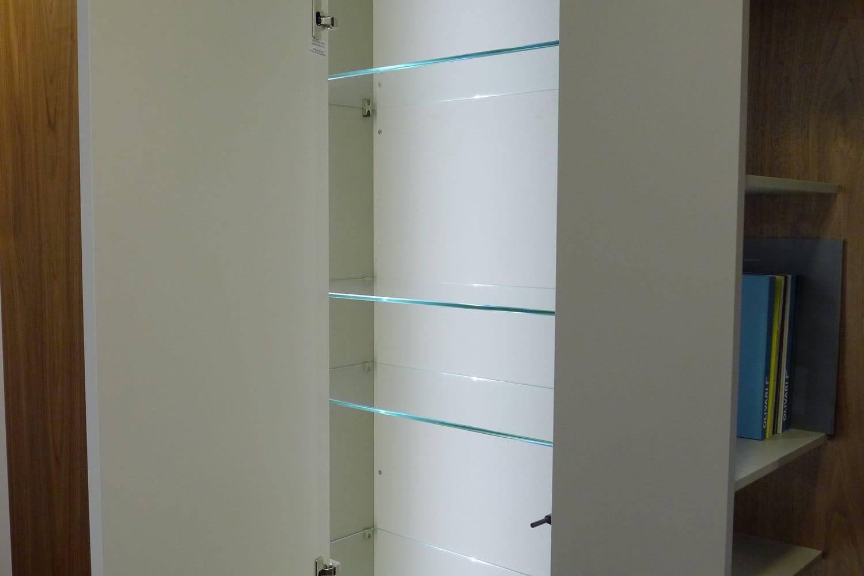 Detalle del sistema Roomy de Caccaro instalado en exposición Kitchen in.