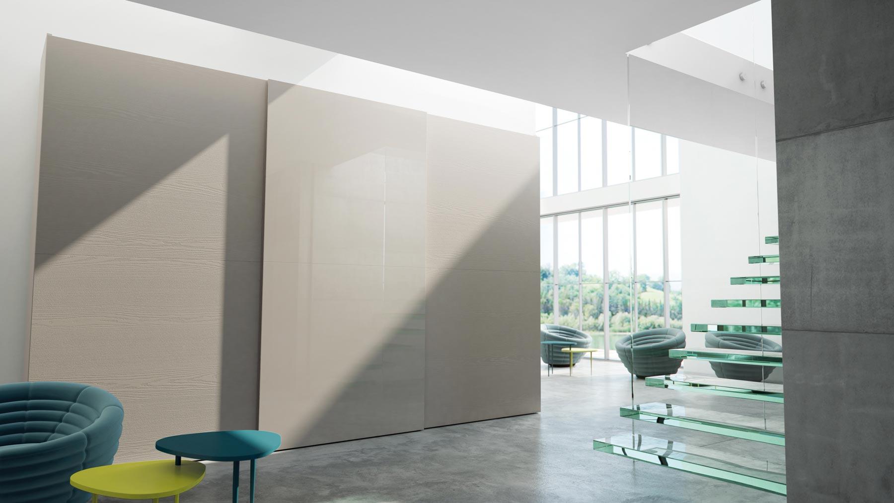Modelo de armario de la serie FLAT de Caccaro