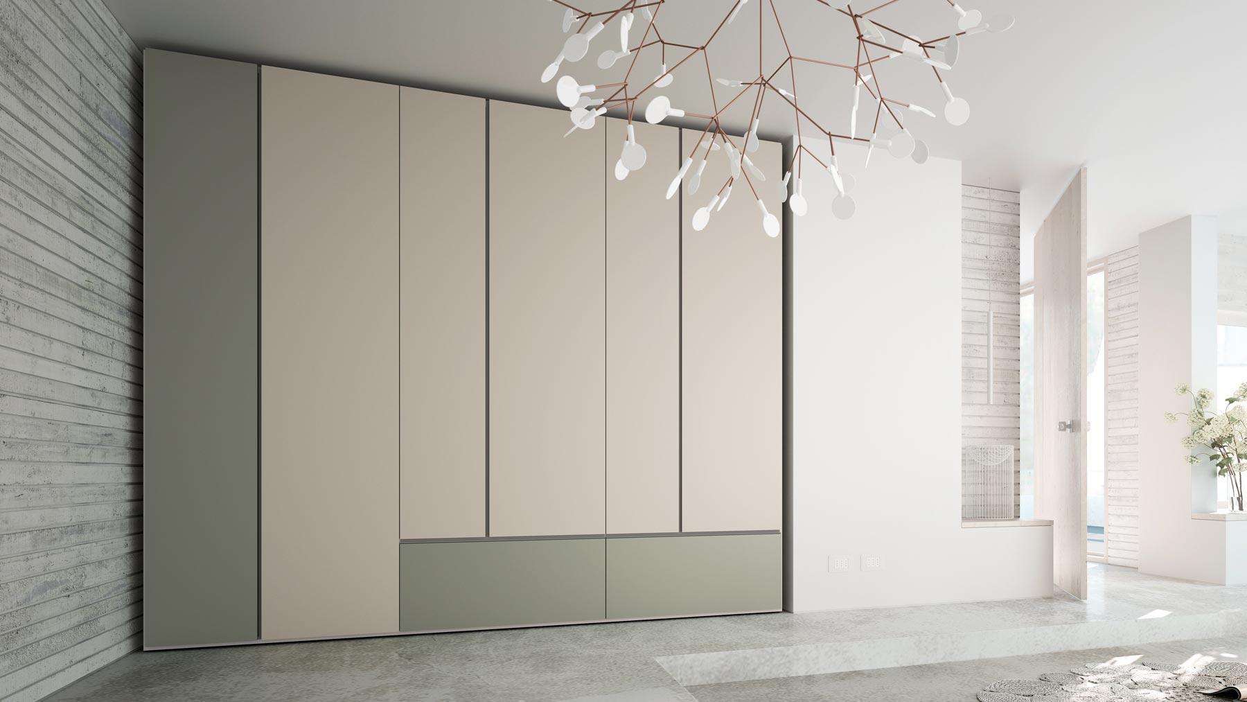 Vista de un armario de la serie GRAFIK de Caccaro