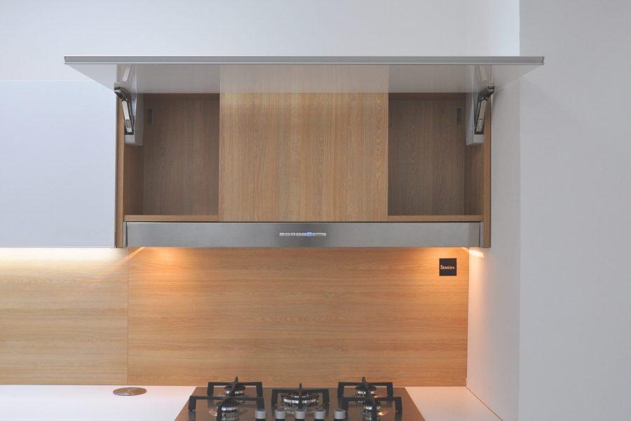 Campana integrada para mueble alto