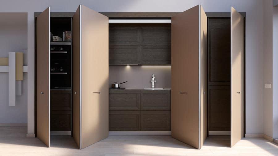 Muebles columna de cocina con apertura escamoteable