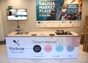Módulo de showcooking de Kitchen in en Galicia Market Place