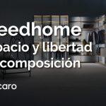 Freedhome de Caccaro: espacio y libertad de composición