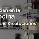 Orden en la cocina: Ideas y soluciones con muebles de apertura extraíble